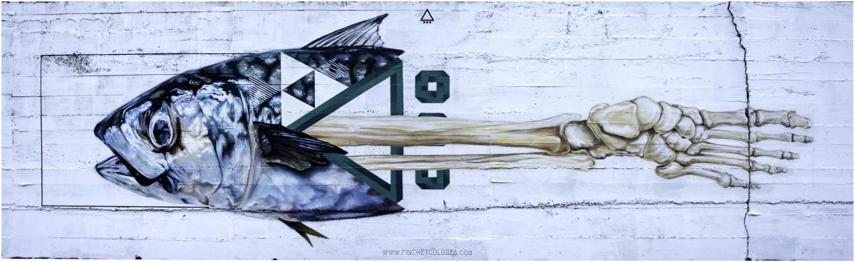 Graffiti mural en España