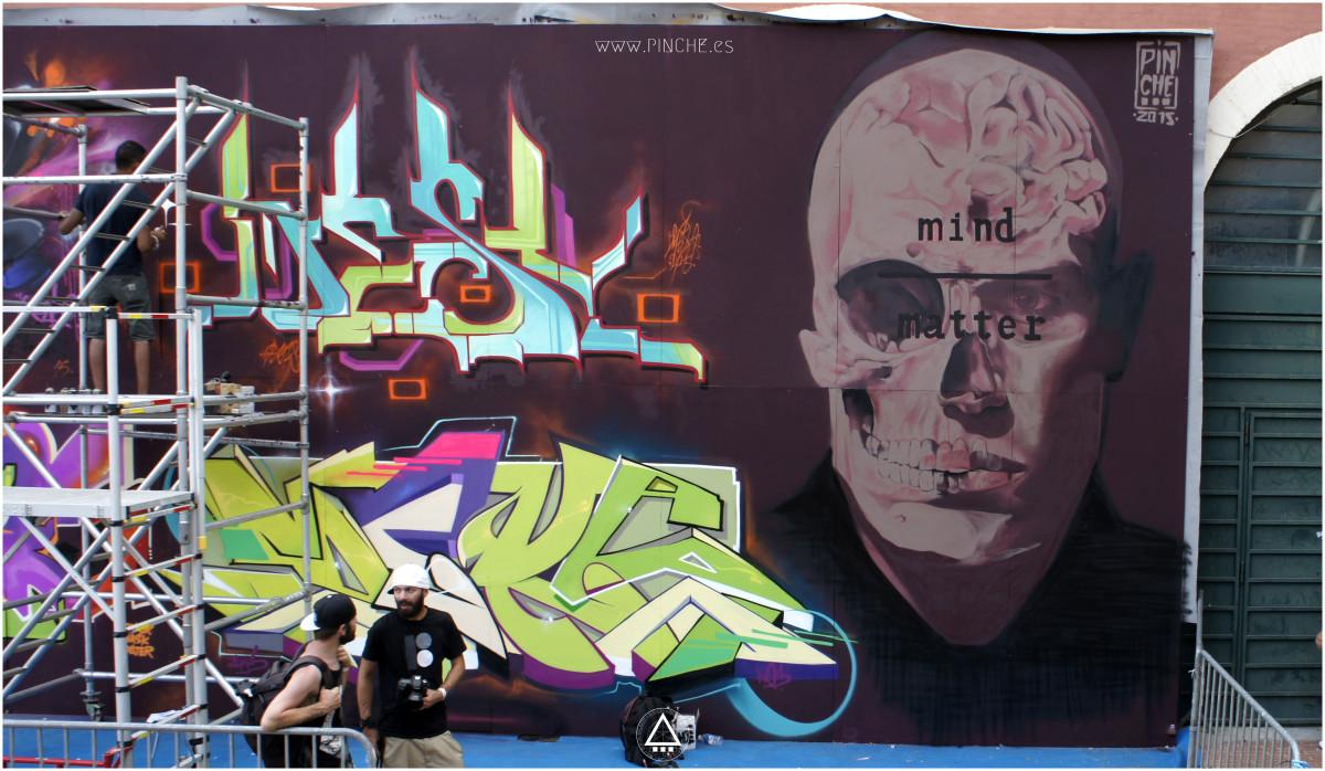 Perpignan Festival. Graffiti by Pinche