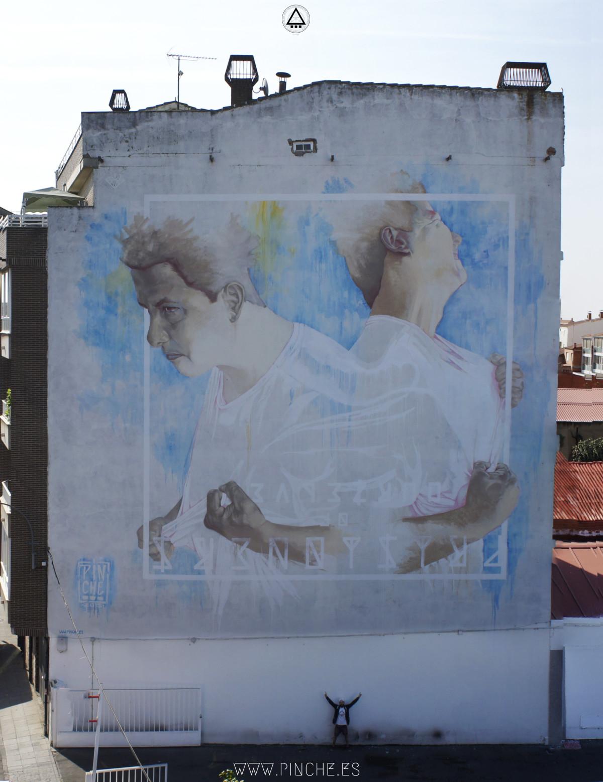 Graffiti en La Bañeza, León.
