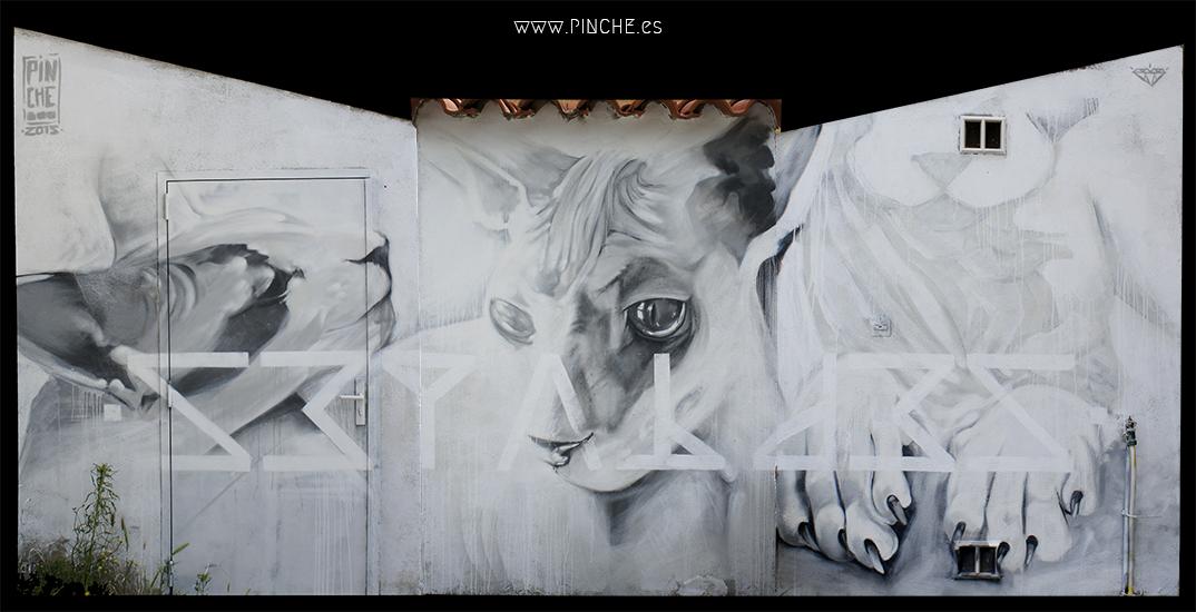 graffiti de pinche, Perpignan Francia.