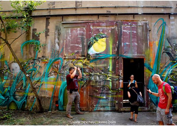 Graffiti pintado por Amin y pinche