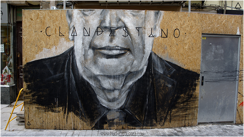Mural para el Clandestino por Pinche