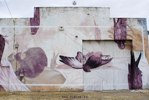 Mural by pinche, León 2015