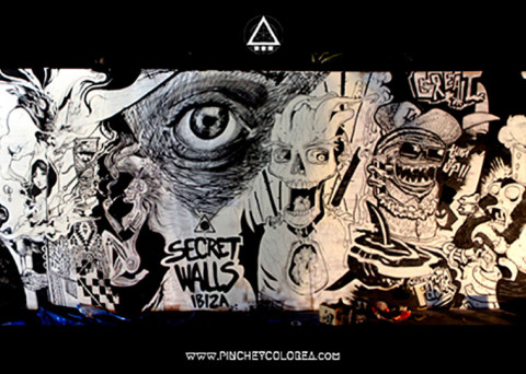 Secret walls festival by pinche