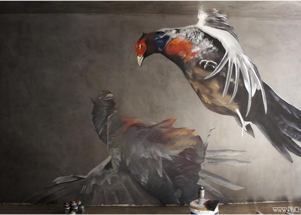 Mural en el Koi Leon, Clandestino por Pinche