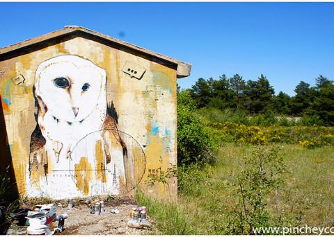 Graffiti realizado por pinche.