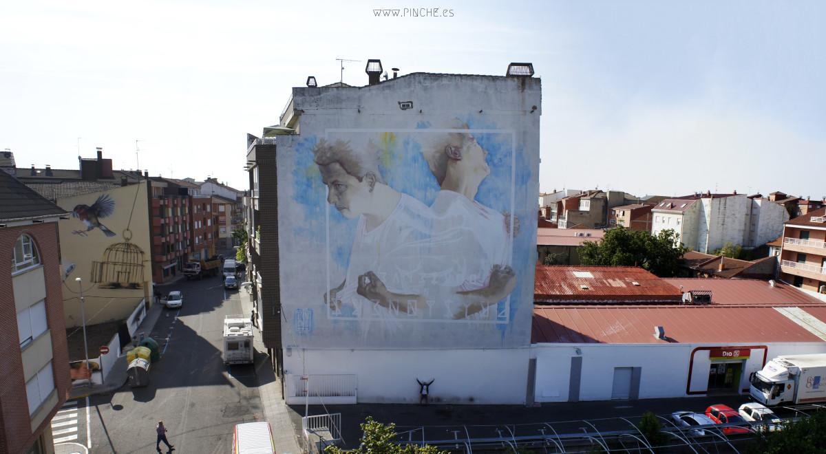 Mural de pinche, para Artaerorap.