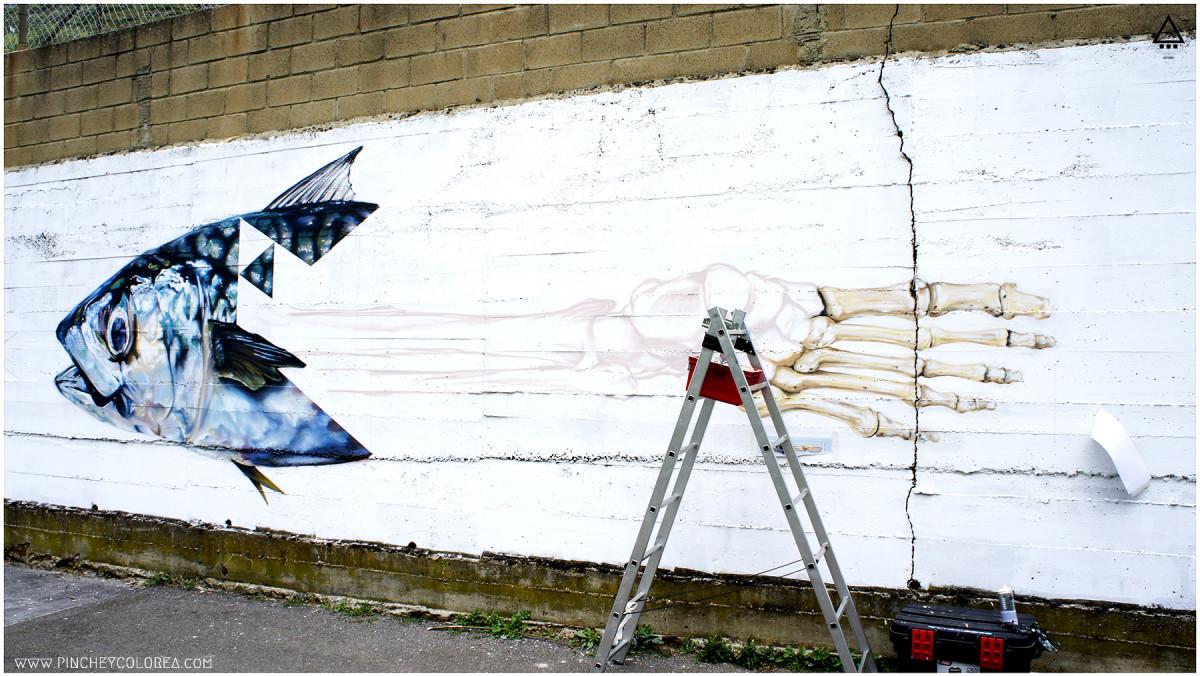 grafitero profesional pez en León