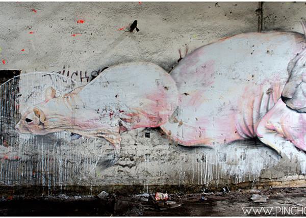 Graffiti pintado por pinche para el festival urbano en Alemania