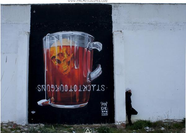 Graffiti realizado por Pinche